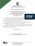 Edital Mestrado Ensino Em Saude - Uepa Turma 2015