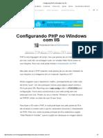 Configurando PHP No Windows Com IIS
