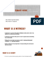 Witness Testimony Guide