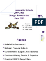 onsted community schools 0910 budget