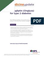 NPS Medicine Update Saxagliptin