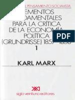 Marx, Karl-Metodos Fundamentales Para Una Critica de La Economia Politica