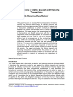 A Critical Review of Islamic Deposit and Financing Transactions