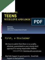 Parenting Teens Love Logic