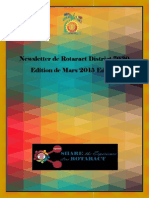 District Newsletter March 2015 (French)