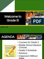 Grade 5 Course Information SY1516