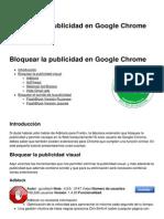Bloquear La Publicidad en Google Chrome