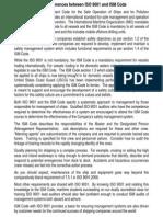 ISM vs ISO 9001