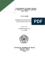 Studi Keseimbangan Air(Water Balance) Waduk Gondang Di Kabupaten Lamongan Jawa Timur_2