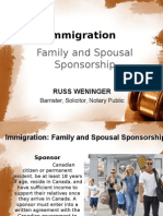 Russ Weninger legal counsel for Family and Spousal Sponsorship