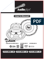 AudioPipe TXXbd215 Users Manual