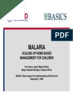BASICS Malaria Presentation