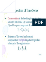 Decomposition of Time Series
