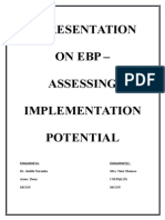 EBP - Implementation Potential