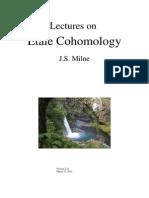 Lectures on Etale Cohomology