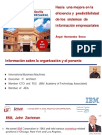 Ponecia  Arquitectura II Jornada ItSMF en Sevilla