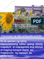 Pagwawasto at Pag-uulo ng Balita