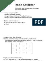 Matriks Metode Kofaktor