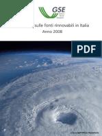 GSE Statistiche Sulle Fonti Rinnovabili in Italia 2008