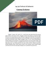 Gunung API Terbesar Di Indonesia