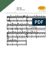 john lennon - imagine (partitura piano)