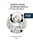 Common Tones of the Divine Office