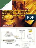 Optimizacion Del Consumo de Zinc en Yanacocha