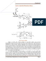 velocity triangles and power output by elementary theory