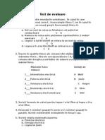 Test de Evaluare1