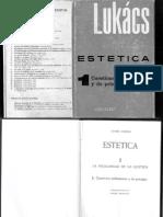 LUKÁCS, Georg. Estética Tomo I