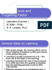 Learning Curve and Forgetting Factor_Ideas