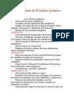 Guía Del Lectura de El Quijote I