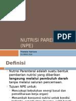 Nutrisi Parenteral (NPE)