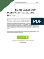 Descargar Catalogo Manuales de Motos Nodosud