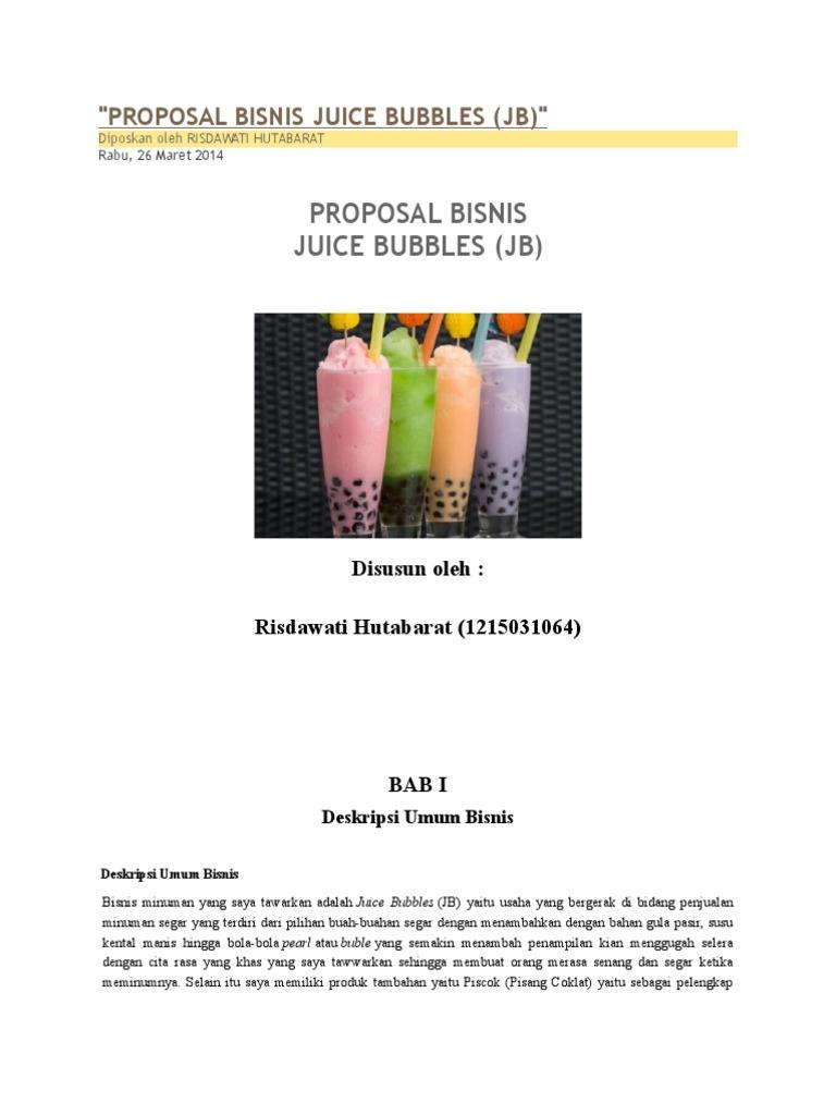 Proposal Bisnis Juice Bubbles