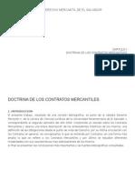 Los Contratos en El Derecho Mercantil de El Salvador