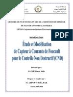 etude et modelisation de capeur à coutants de faucoult