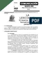 La Lexicología