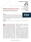 Bulletin of the Atomic Scientists Report on Russia Nuclear Arsenal (March/April 2014)