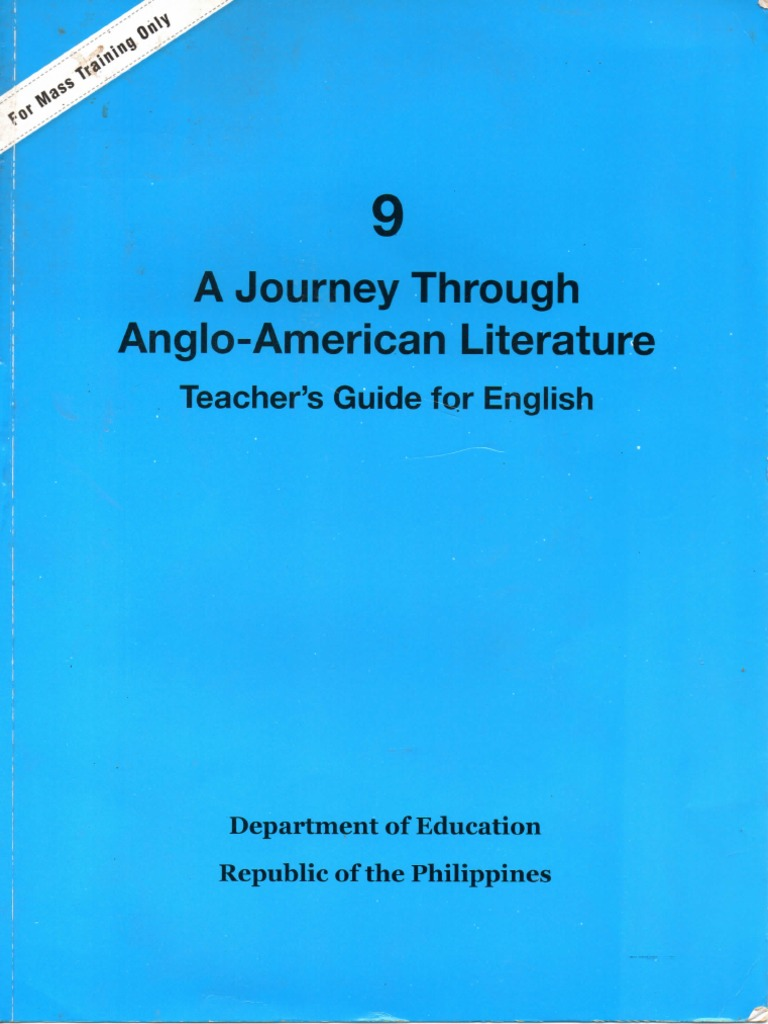 Grade 9 A Journey Through Anglo-American Literature Teacher\'s Guide ...