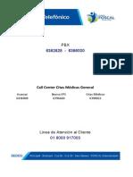 Directorio Telefonico FOSCAL 2014
