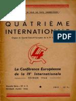 Quatrième Internationale I, Nº 4-5, 1944