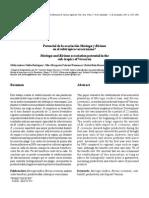 Potencial de La Asociacion Moringa y Ricinus en El Subtropico Veracruzano