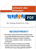 Recruitment Dan Orientasi