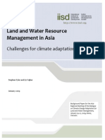 Land and Water - Challange for Climate Adoptation