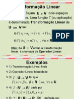 Aula 23 - Transformacoes Lineares