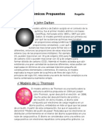 Modelos Atómicos Propuestos