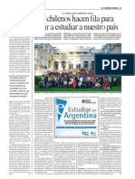 Los Chilenos Hacen Colas Para Venir a Estudiar a La Argentina