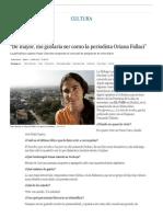 """2015 03 05 - El País - Yoani Sanchez - """"de Mayor, Me Gustaría Ser Como La Periodista Oriana Fallaci"""