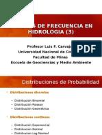 Distribuciones de Probabilidad para hidrologia